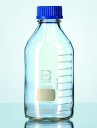 Slika za duranr laboratory bottle, clear, graduat