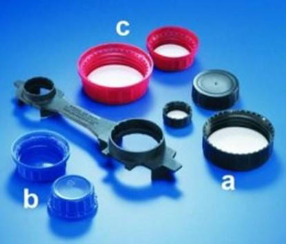 Slika za tamper evident screw caps, pp, red