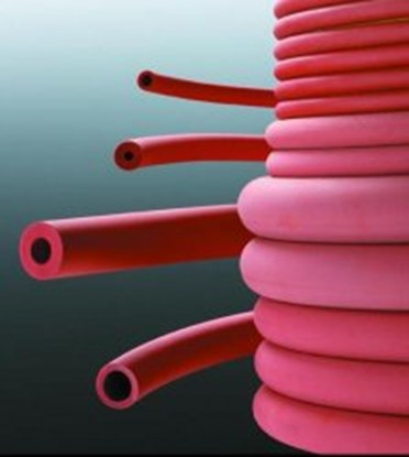 Slika za tubing,rubber,red,2 x 1,0 mm wall, p.m