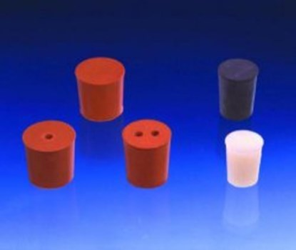 Slika za rubber stoppers red 7mmfi base diam