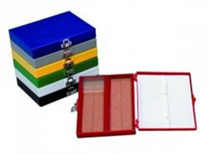 Slika za microscope slide box, green,