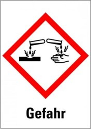 """Slika za hazardous material symbols """"danger: skin"""