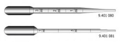 Slika za pipete pasteur 1 ml, pe, makro, 150 mm ne sterilne pk/500