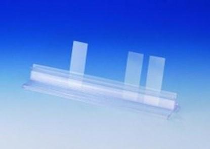 Slika za microscope slide holder,plastic,250x50x3