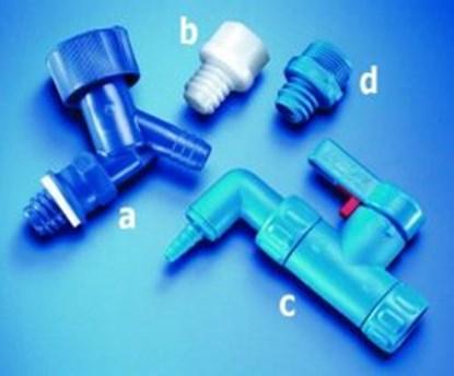 Slika za slavina za karnister plastična plava