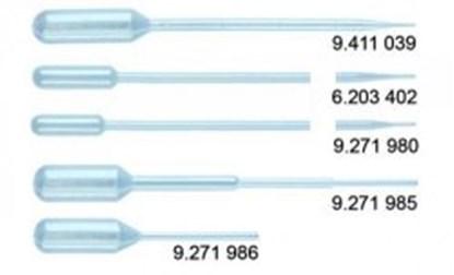 Slika za pasteur pipets,pe,1.0 ml, 150 mm, steril