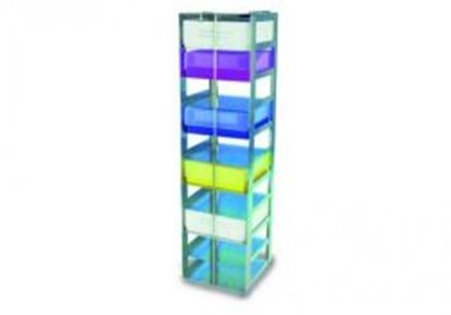 Slika za rack for 10 boxes 50 mm 140 x 141 x 557