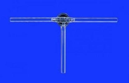 Slika za stopcocks, three way with solid glass pl