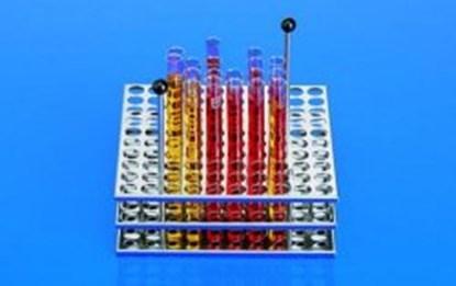 Slika za test tube rack,st.steel,for 100 tubes 18