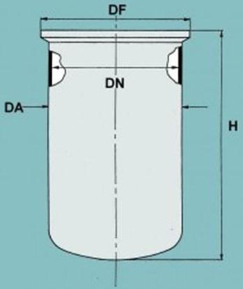 Slika za flat ground flange reaction vessel 1000m