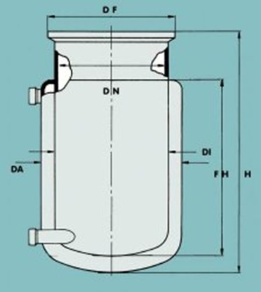 Slika za flat ground flange reaction vessel 3000m