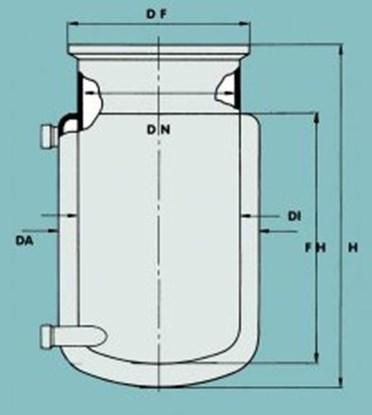 Slika za flat ground flange reaction vessel 6000m
