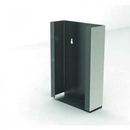 Slika za dispenser box, stainless steel, 2 compar