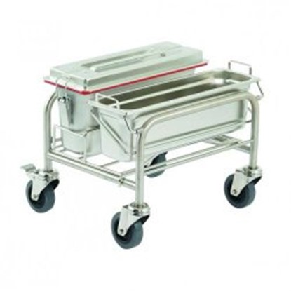 Slika za Cleaning trolleys Clino<sup><SUP>&reg;</SUP></sup> CR mini EM-GMP1, stainless steel